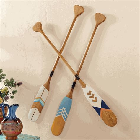 decorative oars and paddles canada wood decorative canoe paddles set of 3