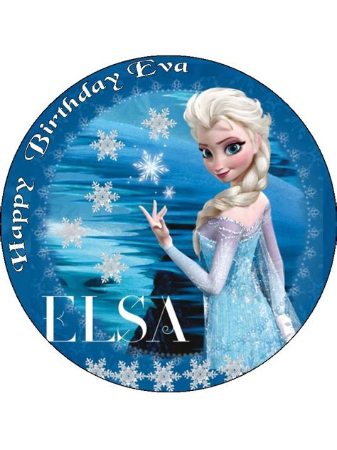 elsa disney frozen personalised edible icing  wafer
