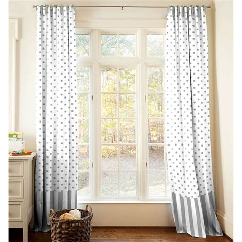 black and white polka top striped curtain for french