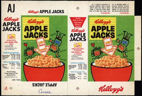 Apple Kitchen Decor Canada by Canada Kellogg S Apple Jacks Single Serve Cereal Box