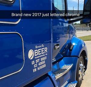 chrome lettering sandau bros sign company With chrome lettering for trucks