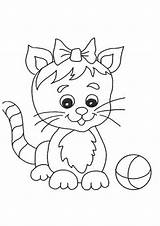 Coloring Cat Cats Printable sketch template