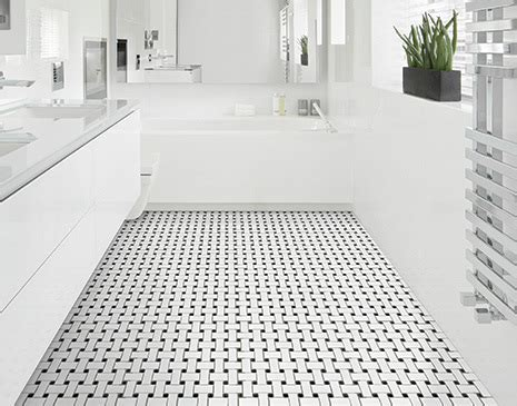 basketweave glazed ceramic mosaic floor and wall tile