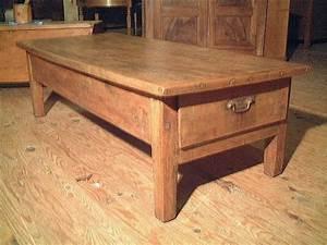 Table Basse Ancienne : table basse ancienne en merisier et hetre rustique ~ Dallasstarsshop.com Idées de Décoration