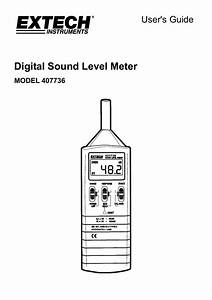 Digital Sound Level Meter User U0026 39 S Guide Model 407736