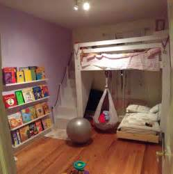 Loft Bed with Swing