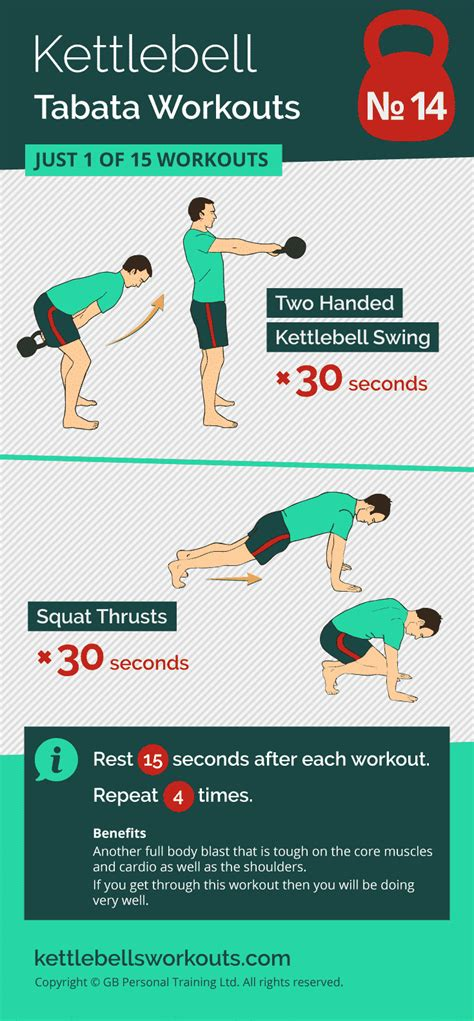 tabata kettlebell workout workouts swings exercises kettlebellsworkouts fat swing thrusts burn intense squat
