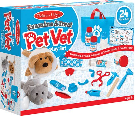 Melissa & Doug Examine & Treat Pet Vet Play Set  Geppetto