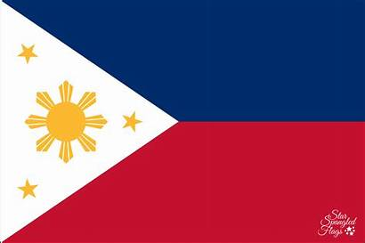 Flag Philippines National Flags Spangled