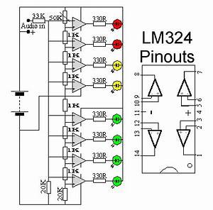 led audio level meter led circuit pinterest audio With 7809 pin and circuit diagram