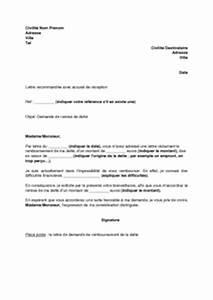 Demande De Pret Caf : lettre de demande de remise de dette mod le de lettre gratuit exemple de lettre type ~ Gottalentnigeria.com Avis de Voitures