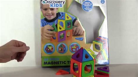 Discovery Channel Magnetic Tiles by Discovery Magnetic Tile Set 24 Set Unboxing