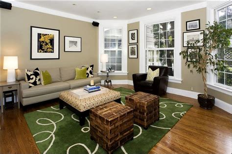 living room classic color combination of white taupe