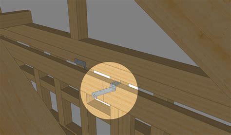 holzbalken verbinden metall balken verbinden kreuzung mit einem gerberverbinder