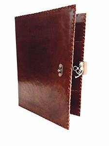 blf vintage portfolio case ring binders handmade leather With leather resume portfolio