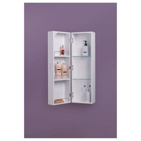 White Mirrored Bathroom Cabinets by Buy Croydex Single Door Polar Bathroom Cabinet High Gloss