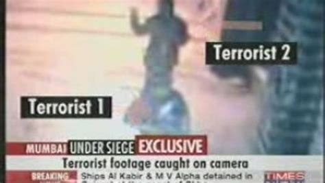 mumbai terror attacks terrorists  footage  shooting