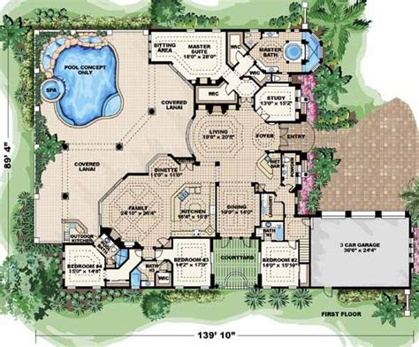 italian style house plans  square foot home  story  bedroom    bath  garage