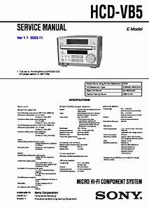 Sony Mhc 801 Service Manual