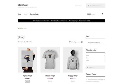 storefront themes woocommerce