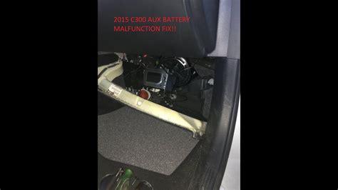 auxiliary battery malfunction fix diy youtube