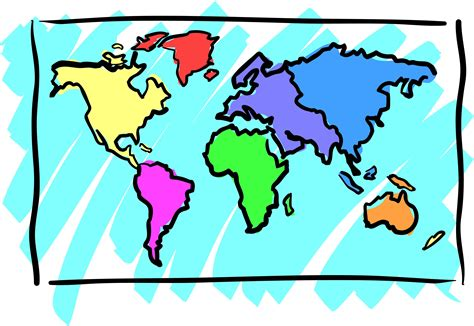 Where Is Clipart In Word Continent Clipart World Atlas Pencil And In Color