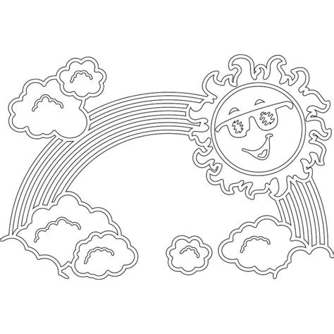 rainbow coloring pages  childrens printable