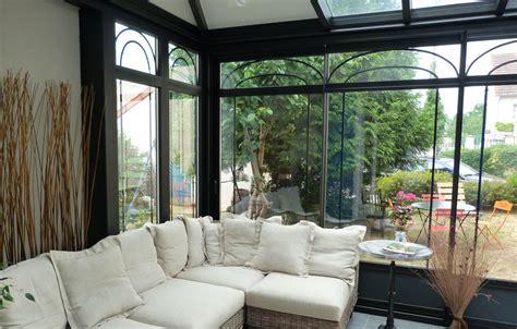 siege social tryba véranda aluminium effet fer forgé tryba le verandier