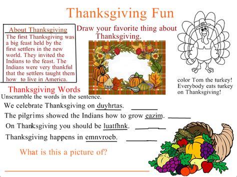 week of thanksgiving series thanksgiving homework