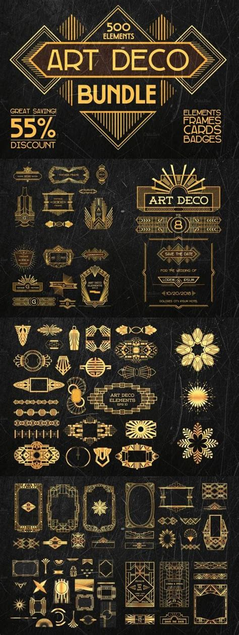 deco design elements this bundle contains 500 elements design elements frames greeting cards badges labels