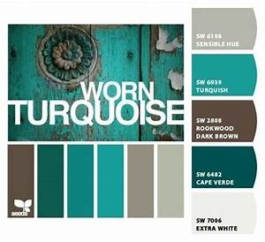 turquoise green color inspiration for family room makeover With palette de couleur turquoise 5 shades of blue and brown color palette ideas