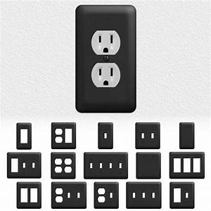 Black Metal Light Switch Wall Plate Outlet C