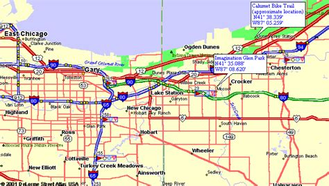 Map to Imagination Glen Park Mountain Biking Trails in ...