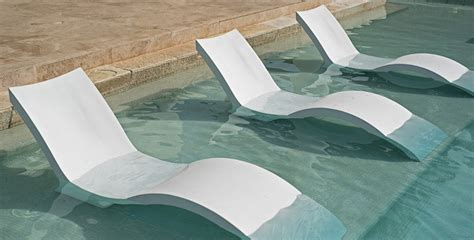 in pool chaise ledge lounger