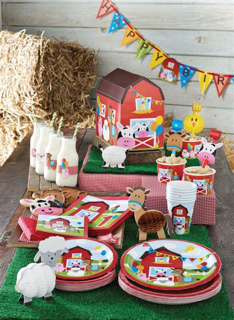 farm themed birthday party home party ideas