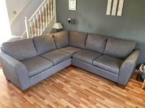 M&s Urbino Fabric Corner Sofa For Sale  Grey Colour