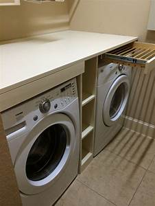 Shelf, Over, The, Washer, And, Dryer, With, Pull, Out, Drying, Racks