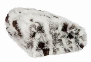 Plaid Blanc Fourrure : plaid imitation fourrure blanc brun et noir 130x180cm j line j line ~ Teatrodelosmanantiales.com Idées de Décoration
