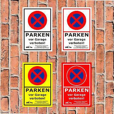 parken vor garage schild parken vor garage verboten widerrechtlich abge