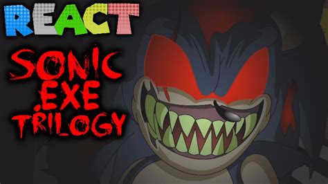 luigikid reacts to sonic exe trilogy animated by teenagebratwurst