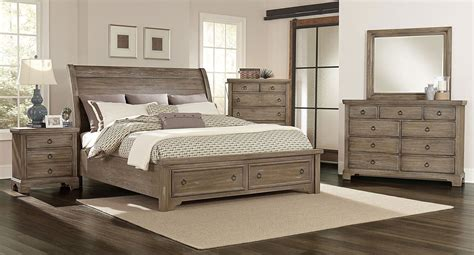King Bed Decor Ideas by Whiskey Barrel Storage Bedroom Set Rustic Gray In 2019