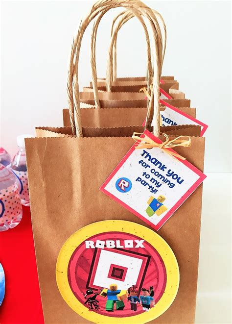 roblox inspired favor bag tags  tags   bags