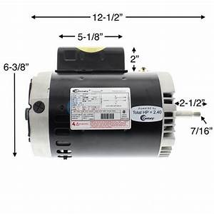 A O  Smith 2 Hp Round Flange 56j Full Rate Ee Motor