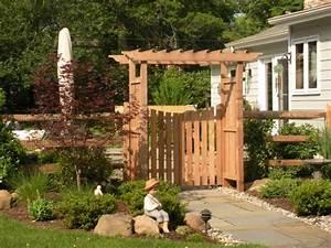Portillon Bois Jardin : portillon de jardin 50 id es pour votre ext rieur ~ Preciouscoupons.com Idées de Décoration