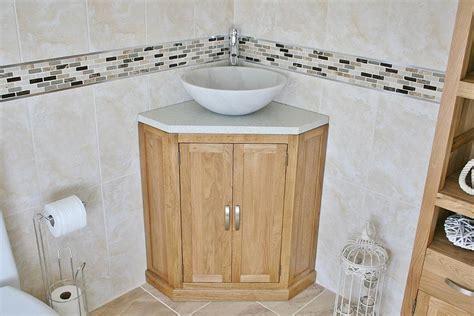 Bathroom Vanity Unit Free Standing Oak Corner Cabinet