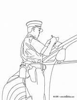Policeman sketch template