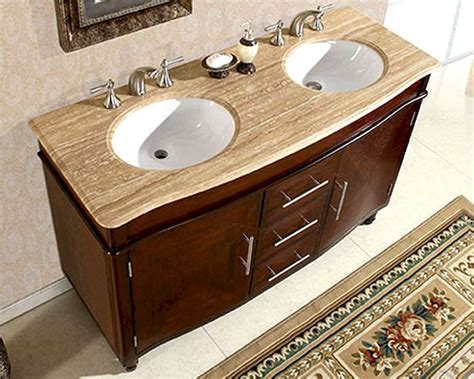 double sink bathroom vanity top silkroad 55 quot double bathroom vanity travertine top white