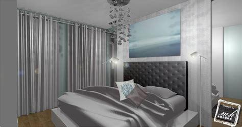 chambre mur bleu décoration chambre parentale mh deco le