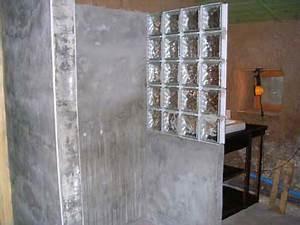 la douche spatieuse cloison a mi hauteur en briques de With toit en verre maison 7 brique de verre wikipedia
