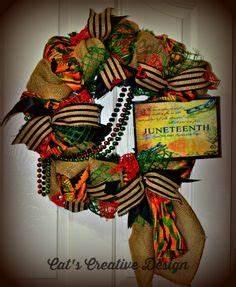 Juneteenth Wreath My Door Decor More Kwanzaa